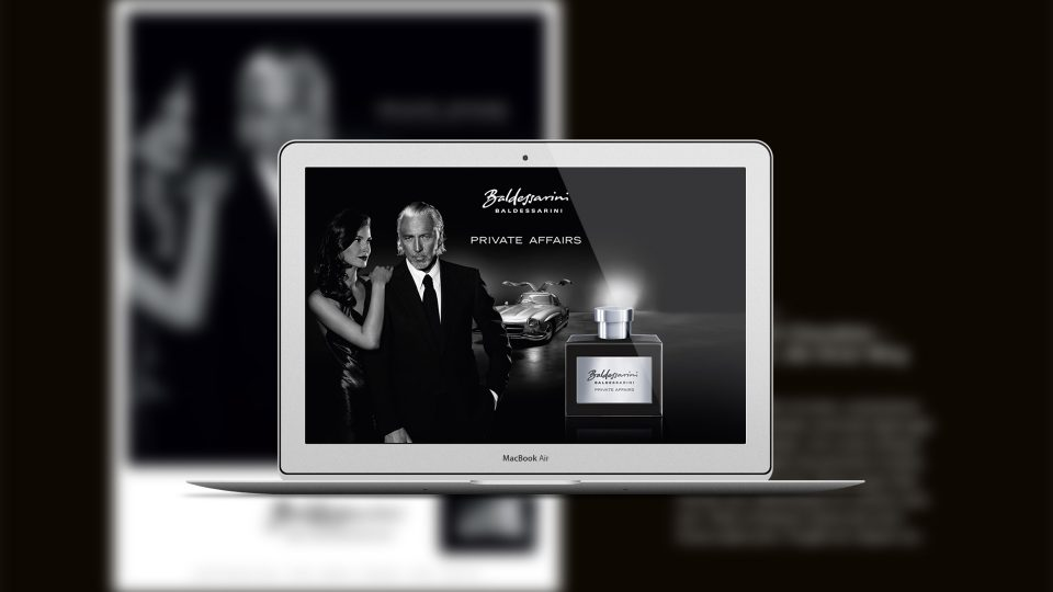 coma2 e-branding - Baldessarini Fragrances Website - 1